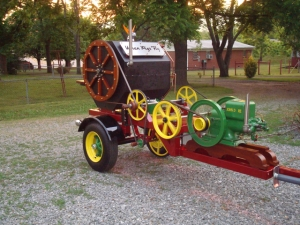 'When Pigs Fly' hand-made John Deere powered  rotisserie BBQ unit