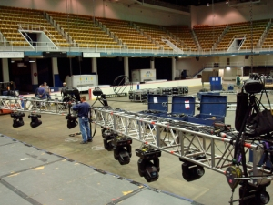Moving Lights truss assembly